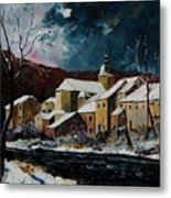 Snow In Chassepierre Metal Print
