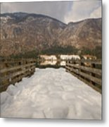 Snowy Alpine Lake Metal Print