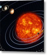 Solar System Metal Print by Stocktrek Images