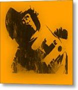 Space Ape Metal Print by Pixel Chimp