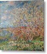 Spring Metal Print by Claude Monet
