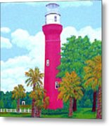 St Johns River  Lighthouse Metal Print