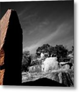 Straight Edge Boulder Enchanted Rock Texas Metal Print