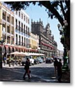 Streets Of Puebla 5 Metal Print