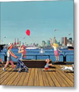 Sunday Morning Lonsdale Quay Metal Print