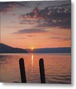 Sunrise Over Keuka V Metal Print by Steven Ainsworth