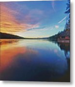 Sunset At Fallen Leaf Lake Metal Print