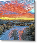 Sunset In El Prado Metal Print