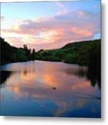 Sunset Over A Lake Metal Print