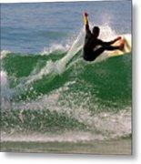 Surfer Metal Print by Carlos Caetano