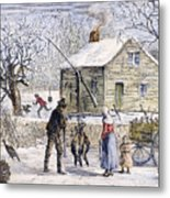 Thanksgiving, 1882 Metal Print