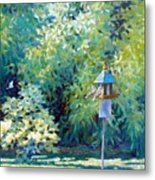 The Bird Feeder Metal Print
