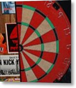 The Dart Board Metal Print