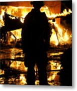 The Fireman Metal Print by Benanne Stiens
