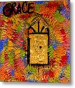 The Golden Door Of Grace Metal Print