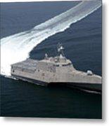The Littoral Combat Ship Independence Metal Print