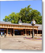 The Railroad Station In Scarsdale Metal Print