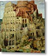 Tower Of Babel Metal Print by Pieter the Elder Bruegel