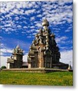 Transfiguration Cathedral On Kizhi Metal Print