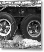 Truck Tires Metal Print
