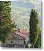 Tuscan Farmhouse At Villa Vignamaggio Metal Print