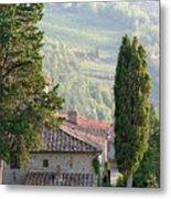 Tuscan Farmhouse At Villa Vignamaggio Metal Print