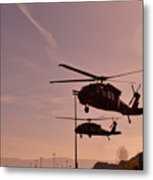 Us Army Blackhawk Metal Print