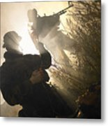 U.s. Navy Seals Give First Aid Metal Print