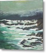 Waves In The Cove Metal Print