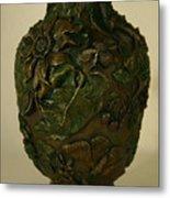 Wildflower Vase Detail Metal Print
