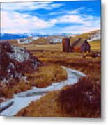 Willow Creek Barn Metal Print