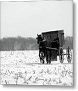 Winter Buggy Metal Print