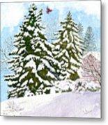 Winter Delight Metal Print