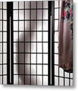 Woman Behind Shoji Screen Metal Print by Oleksiy Maksymenko