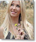 Woman In Springtime Metal Print