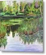 Woodland Reflections Metal Print