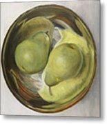 Yin Yang Pears Metal Print