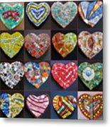 16 Hearts Metal Print