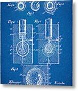 1902 Golf Ball Patent Artwork - Blueprint Metal Print