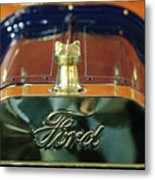 1911 Ford Model T Runabout Hood Ornament Metal Print by Jill Reger