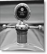 1913 White Gentlemans's Roadster Hood Ornament 2 Metal Print