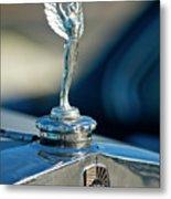 1928 Nash Coupe Hood Ornament Metal Print