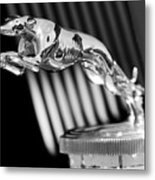 1930 Lincoln Berline Hood Ornament Metal Print