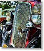 1934 Chevrolet Head Lights Metal Print