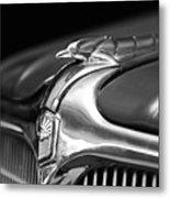 1934 Nash Ambassador 8 Hood Ornament 2 Metal Print
