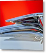 1935 Ford V8 Hood Ornament 3 Metal Print