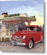 1946 Ford Deluxe Coupe Metal Print