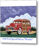1946 Ford Woody Metal Print