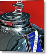 1948 Talbot-lago T26 Record Cabriolet Hood Ornament Metal Print