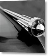 1949 Studebaker Champion Hood Ornament 3 Metal Print